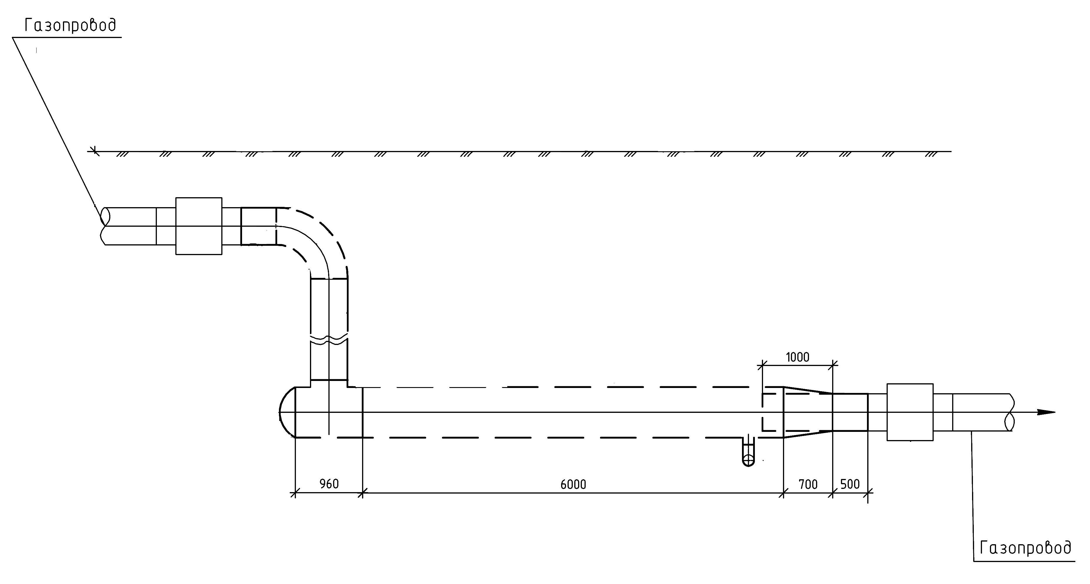 Расширительная камера газопровода