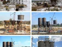 Силосы цемента 1000 тонн для завода молотого доломита